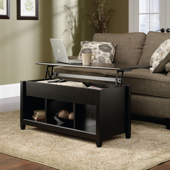 Rectangular Lift-Top Contemporary Coffee Table in Estate Black