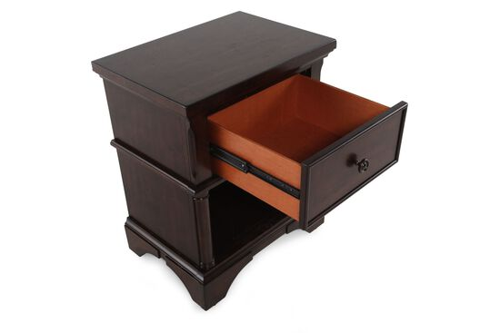 "29"" Contemporary One-Drawer Nightstand in Medium Brown"