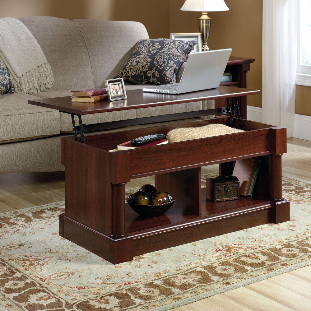 Rectangular Lift Top Contemporary Coffee Table In Select