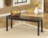 Ashley Owingsville Black/Brown Large Dining Room Bench