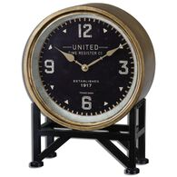 Round Table Clock in Brass