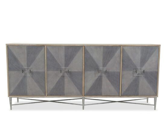 38'' Four-Door Contemporary Credenza in Gray