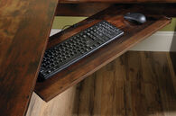 "66"" Contemporary Three-Drawer Corner Computer Desk in Curado Cherry"