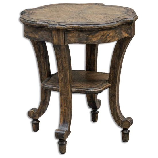Accent Table in Dark Caramel