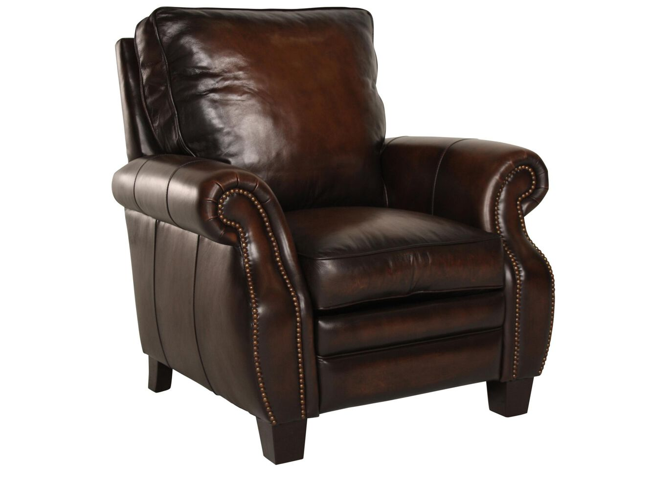 Club chair recliner - Bernhardt Leather Recliner
