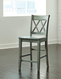 "Casual 40.5"" X-Back Bar Stool in Green"
