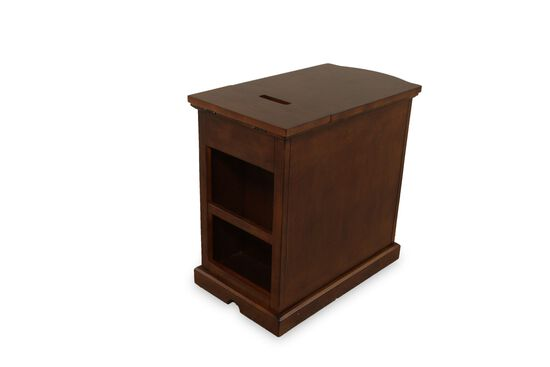 Rectangular Contemporary Chairside Table in Dark Cherry