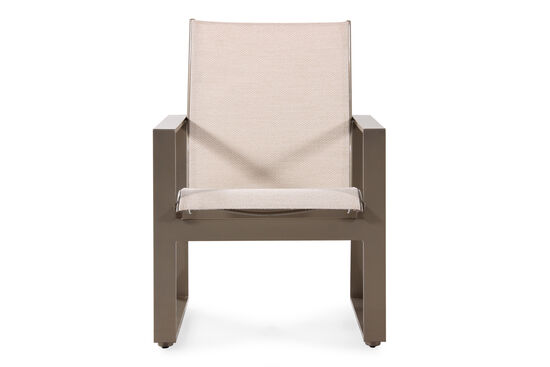 Contemporary Aluminum Sling Dining Chair in Beige