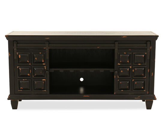 "Sliding-Door Traditional 60"" Console in Black"