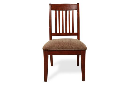 Slat Back Casual Youth Desk Chair in Dark Cherry
