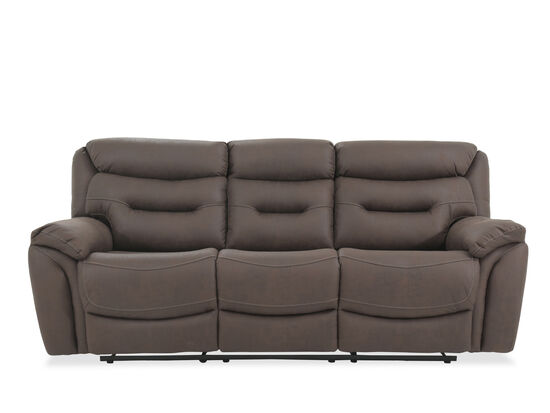 """Casual 90"""" Power Reclining Sofa in Chocolate"""
