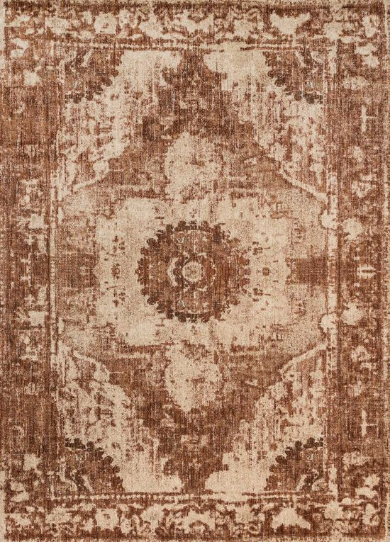 """Contemporary 1'-6""""x1'-6"""" Square Rug in Sand/Rust"""