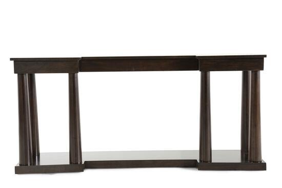 Base Shelf Metropolitan Console Table in Dark Mink