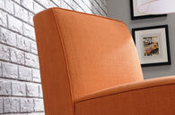 """Traditional 24"""" Armless Accent Chair in Orange"""