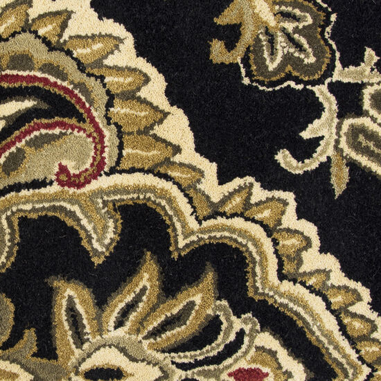 Transitional Hand-Tufted 9'  x  12' Rectangle Rug in Black