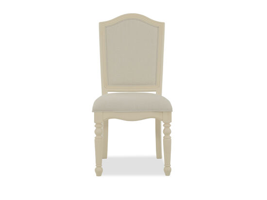 Arched Back Transitional Youth Desk Chair in Cream