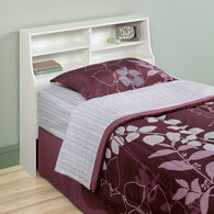 """Traditional 40"""" Twin Bookcase Headboard in Soft White"""