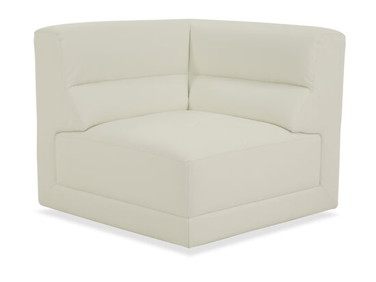 """Contemporary 31.5"""" Corner Chair in Ivory"""