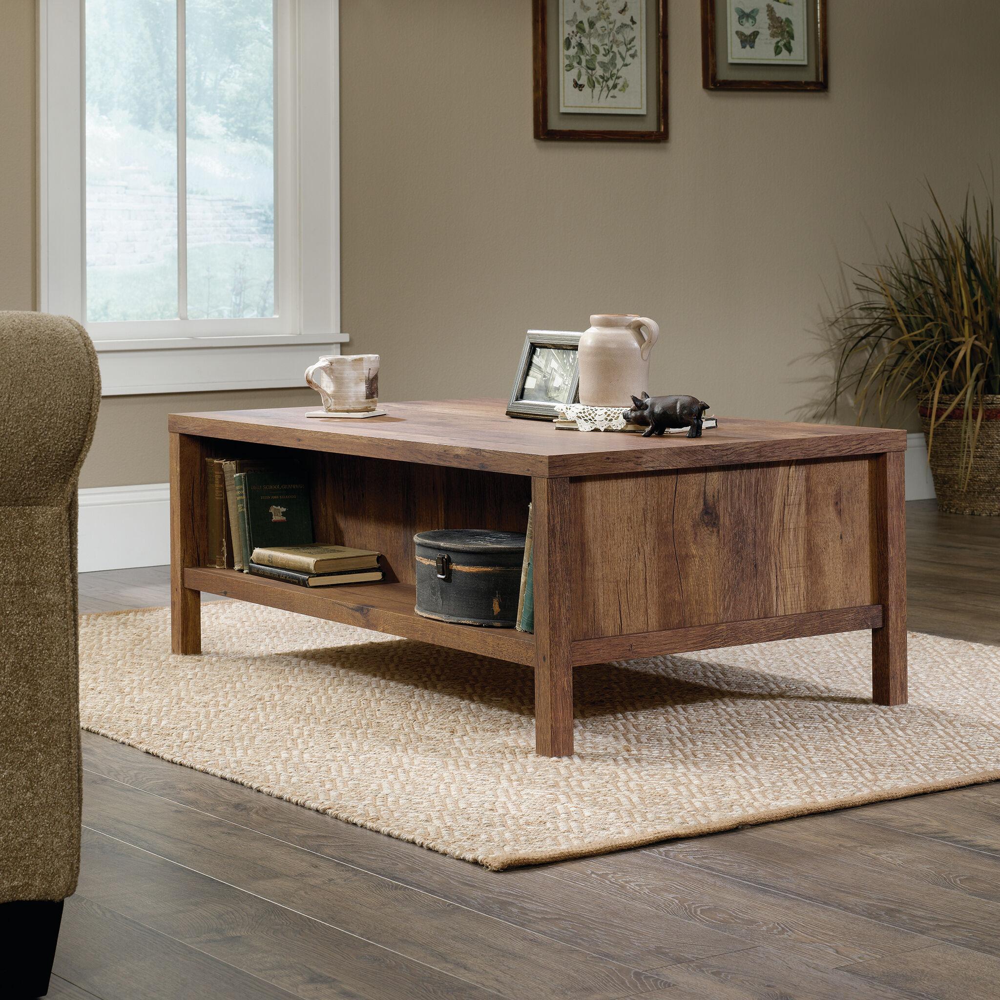 Rectangular Contemporary Coffee Tableu0026nbsp;in Vintage Oak