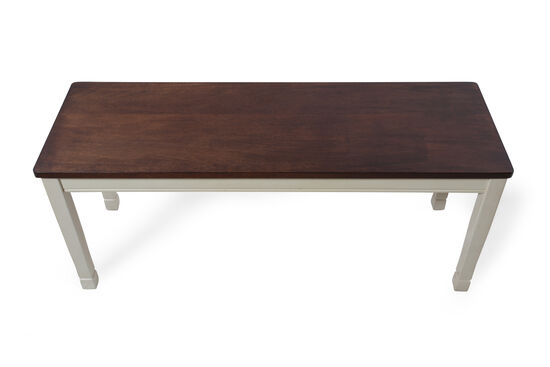"42"" Casual Rectangular Bench in Buttermilk"