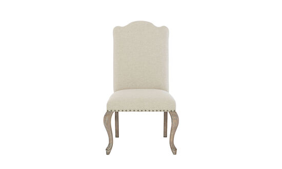 """Refined Romantic Luxury 24"""" Upholstered Side Chairin Weathered Sand"""