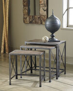 Three-Piece Casual X Nesting End Tables in Gray