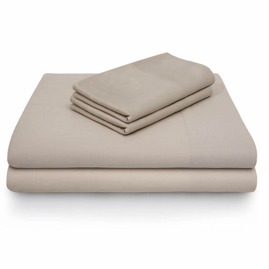 Malouf Rayon From Bamboo Queen Sheet Set in Driftwood