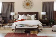 "58"" Mid-Century Modern Paneled California King Bed in Walnut"