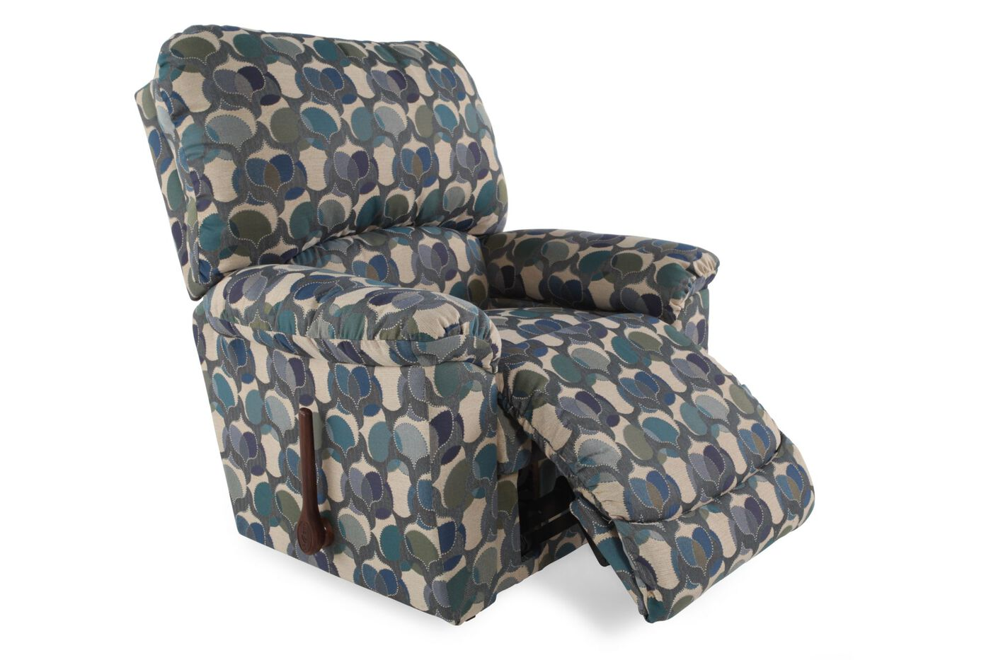 Leaf Patterned Contemporary 39 Quot Rocker Recliner Mathis