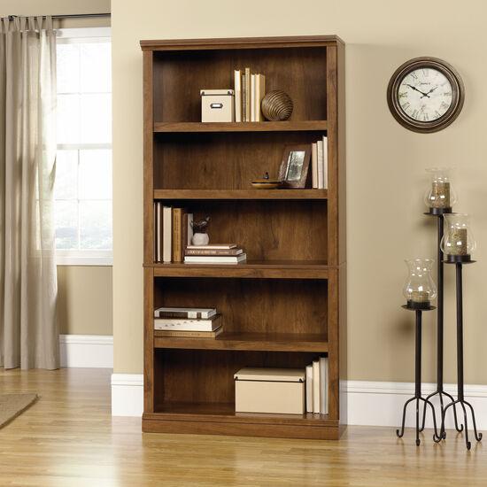 Traditional Adjustable Shelf Bookcase in Oiled Oak