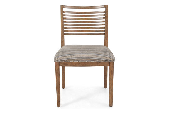"""Slat Back Contemporary 20"""" Chair in Brown"""
