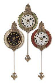 Uttermost Monarch Wall Clock Set/3