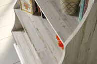 MB Home Orchard White Plank Accent Bookcase