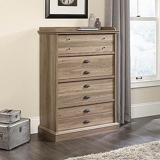 """48.5"""" Contemporary Four-Drawer Chest in Salt Oak"""
