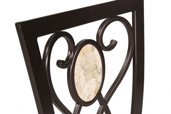 """Transitional 47"""" Bar Stool in Brown"""
