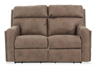 Lane Merlin Leather Brown Reclining Loveseat