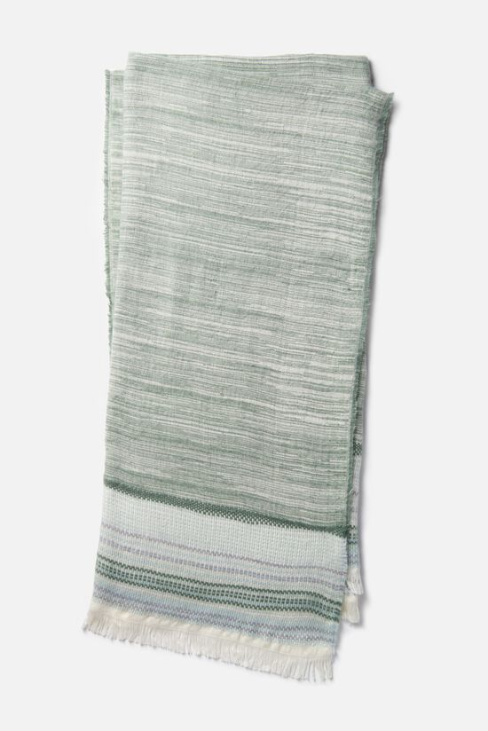 "4'-2""x5' Throw in Sage/Ivory"