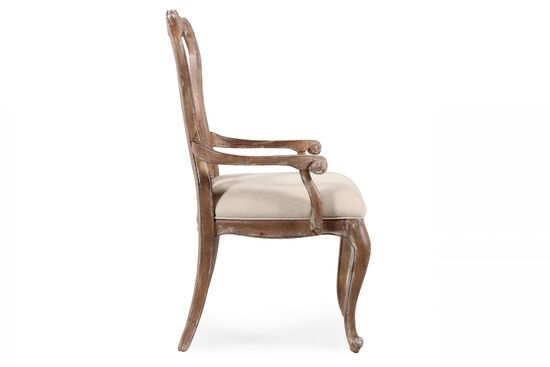 Two-Piece Splat Back Arm Chair Set in Brown