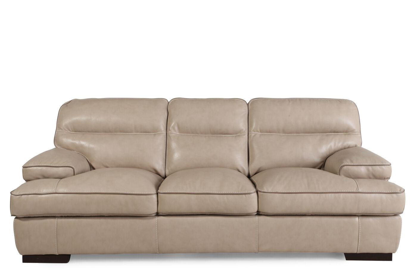 Plush 91quot Sofa In Wheat