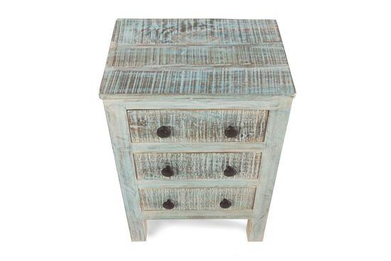 Ashley Vintage White Three-Drawer Table