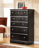 "50"" Contemporary Chest in Black"