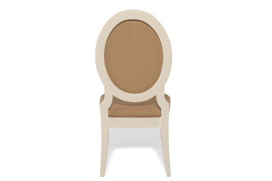 Oval Back Traditional Youth Desk Chair in Milky White