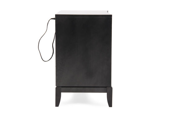 """30"""" Contemporary Ripple-Front Chest with USB Port in Black Tie"""