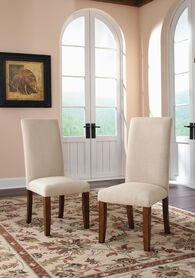 MB Home Central Avenue Parsons Washington Cherry Pair of Dining Chairs