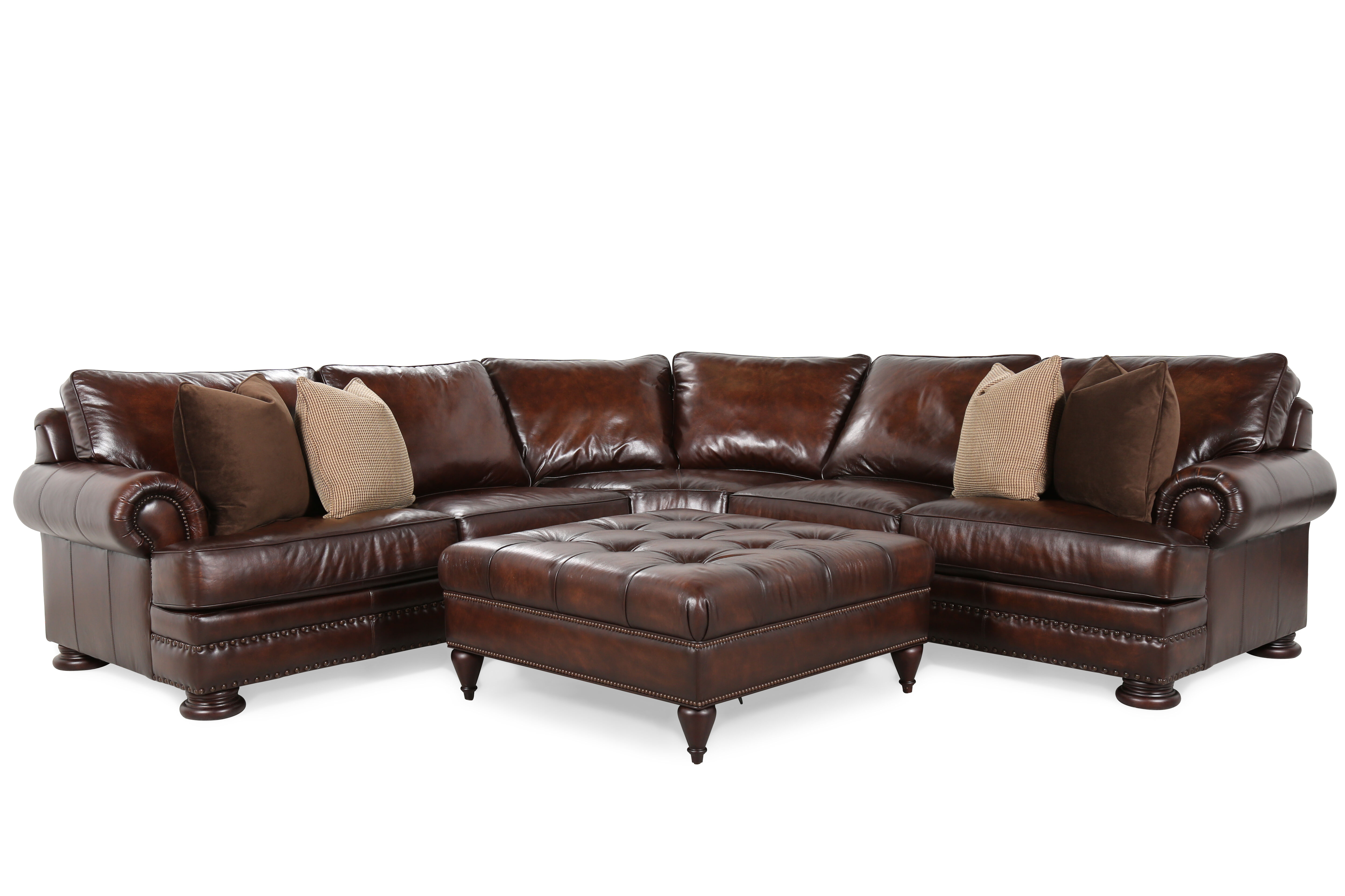 Bernhardt Foster Two Piece Sectional With Ottoman