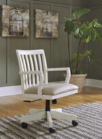 Ashley Sarvanny Cream Home Office Desk Chair