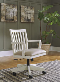 Ashley Sarvanny Cream Home Office Desk Chair