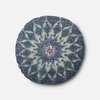 "Loloi Contemporary 1'-8""x1'-8"" Round Cover w/poly pillow in Blue/Teal"