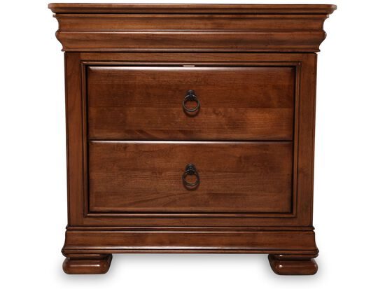 "31"" Traditional Two-Drawer Nightstand in Brown"