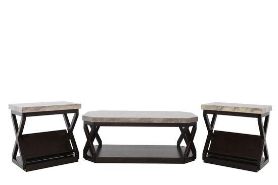 Three-Piece Contemporary Table Set in Dark Brown